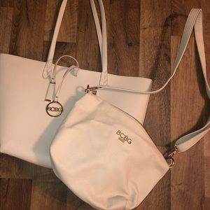 BCBG tote + cross-over bag